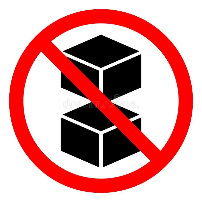 不要做双重堆标志标志,传染媒介例证,在白色背景标签的孤立 EPS10 皇族释放例证
