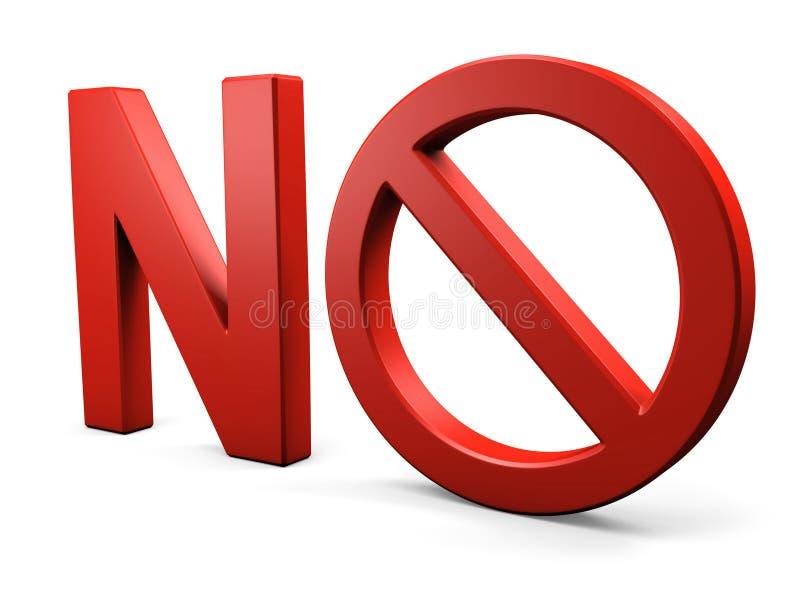 不要发短信给禁止的标志 库存照片