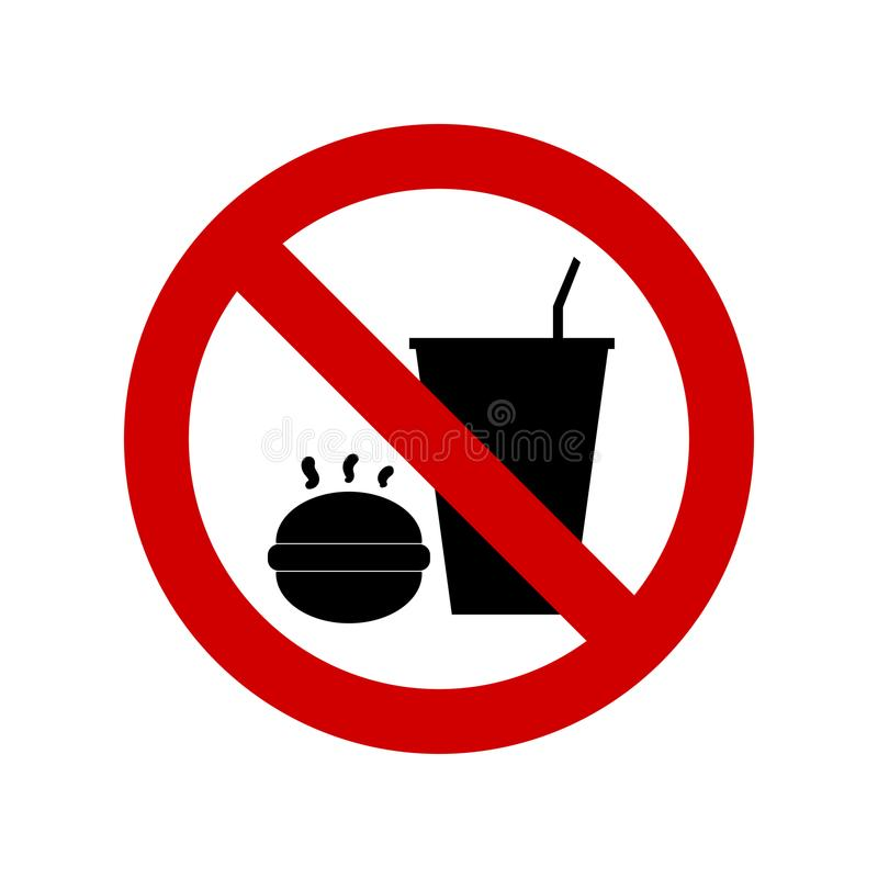 不要吃也不要喝标志 皇族释放例证