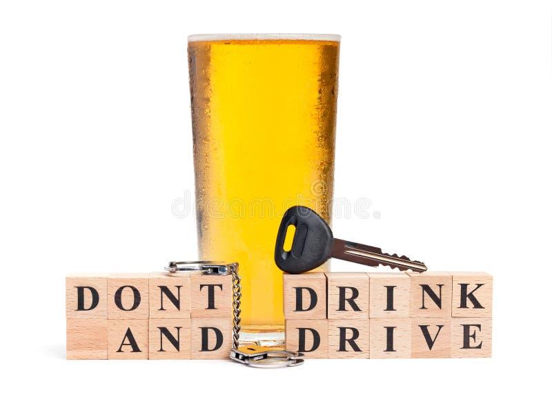 不要喝并且不要驱动 免版税库存照片