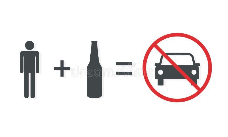 不要喝并且不要驾驶海报 库存例证