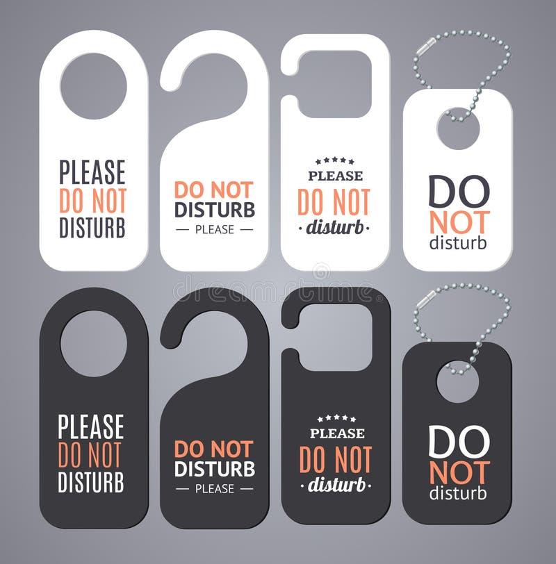 不要干扰标志标签 向量 皇族释放例证