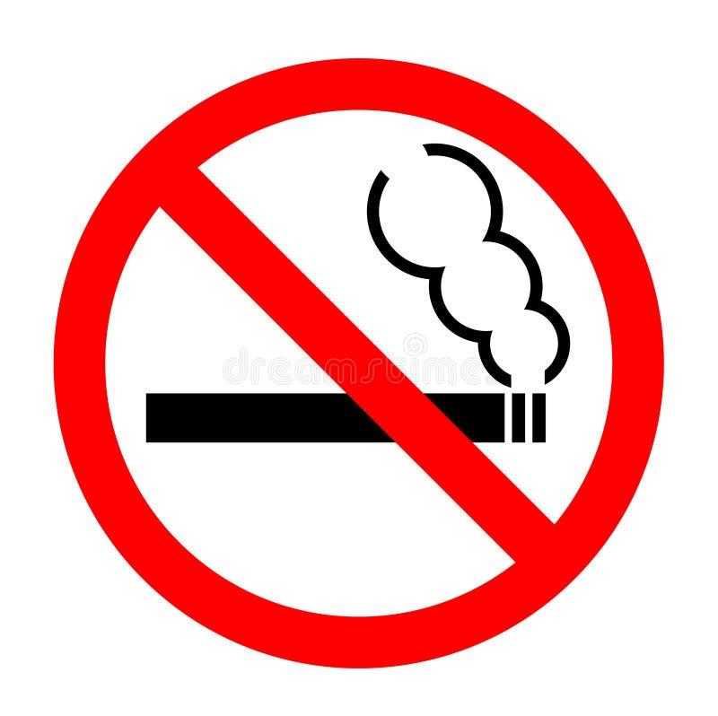 不要抽烟 库存例证