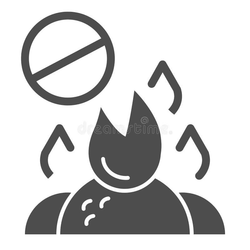 不要烧废坚实象 在白色隔绝的燃烧的垃圾禁令传染媒介例证 禁止的篝火纵的沟纹样式 库存例证