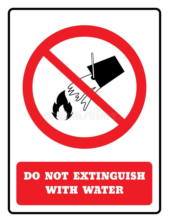 不要熄灭与水标志 皇族释放例证