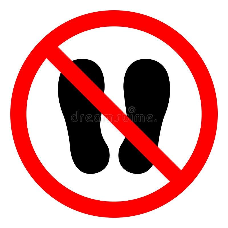 不要走也不要站立这里标志标志,传染媒介例证,隔绝在白色背景象 EPS10 库存例证