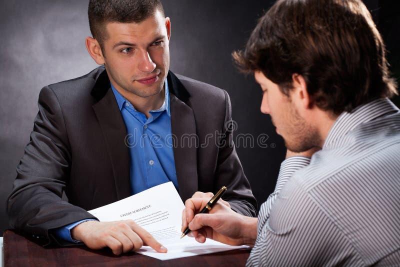 不诚实的商人 免版税库存图片