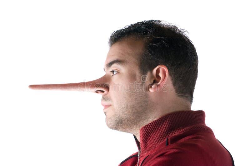不诚实的说谎者 库存图片