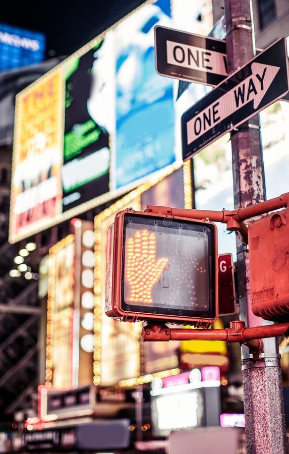 不走纽约交通标志 库存图片