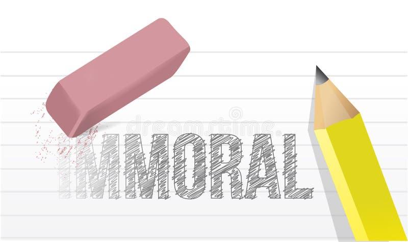 不道德对道德例证设计 皇族释放例证