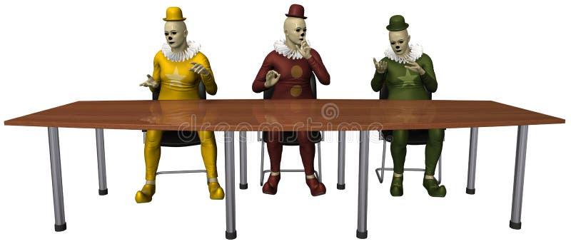 不道德的行为会议小丑被隔绝 皇族释放例证