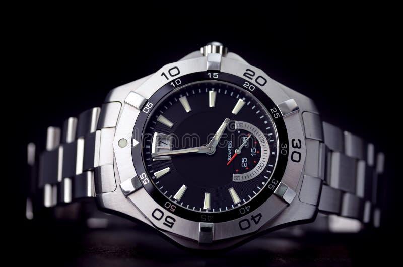不锈钢手表 库存图片