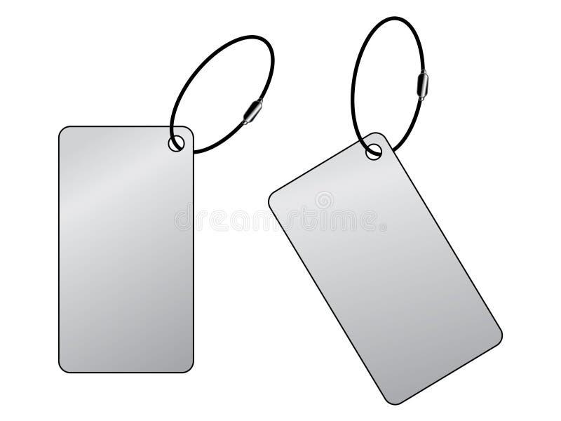 不锈钢方形的标记传染媒介 皇族释放例证