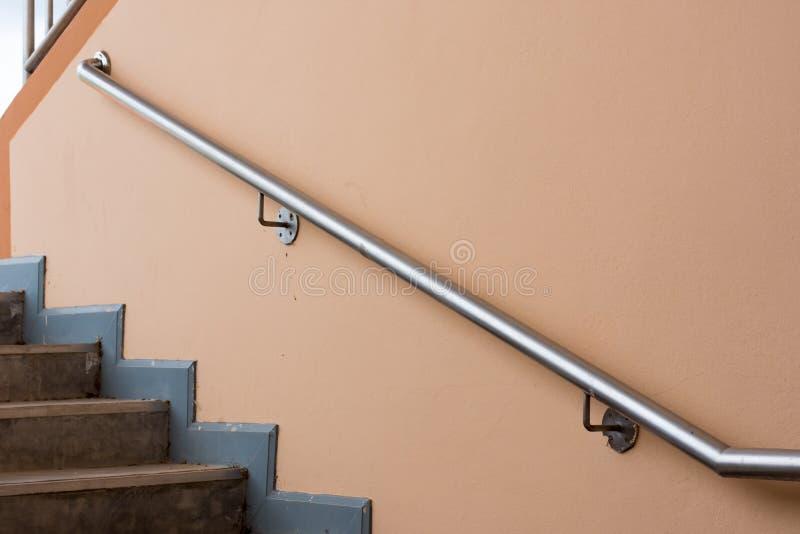 不锈钢栏杆 库存照片