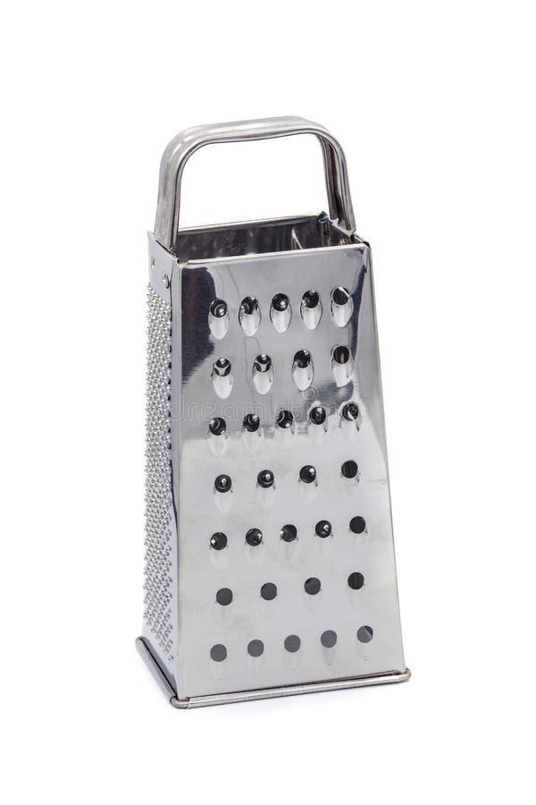 不锈钢磨丝器厨房硬件被隔绝在白色背景 免版税库存照片