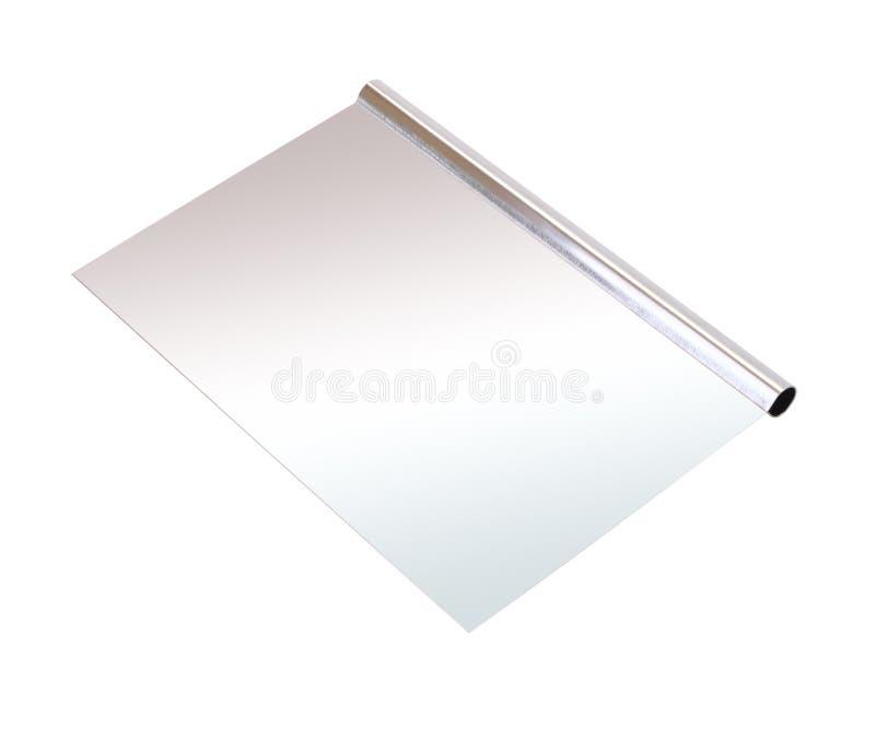 不锈钢面团刮板 免版税库存照片