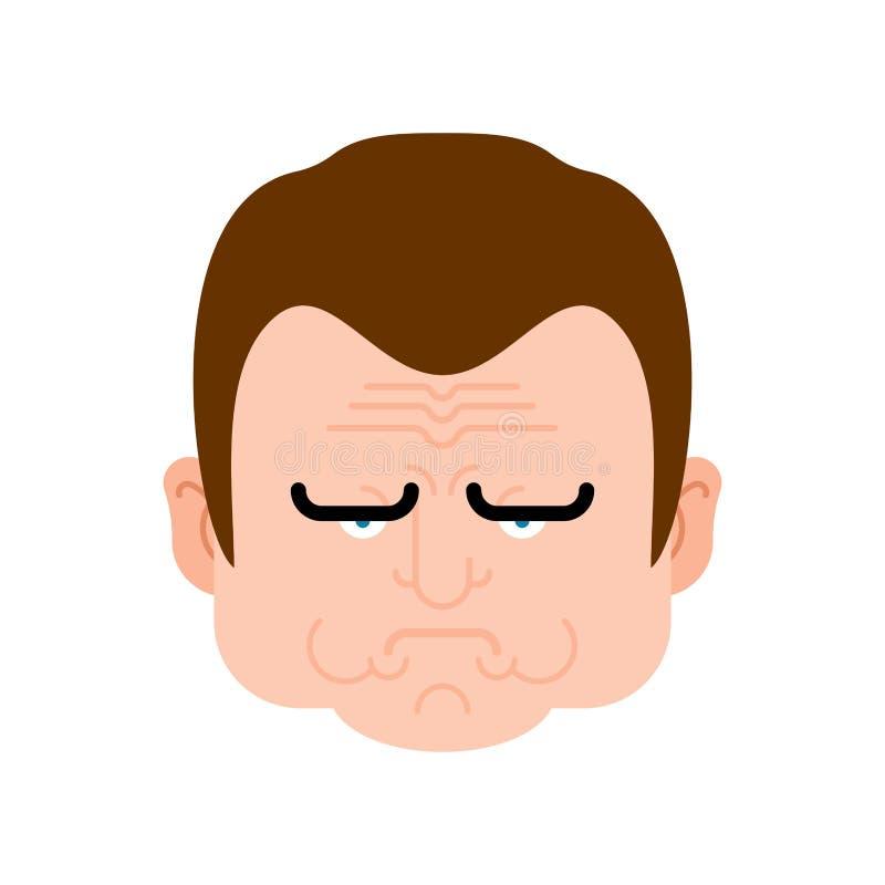 不高兴的面孔人 阴沉的顶头人 也corel凹道例证向量 皇族释放例证