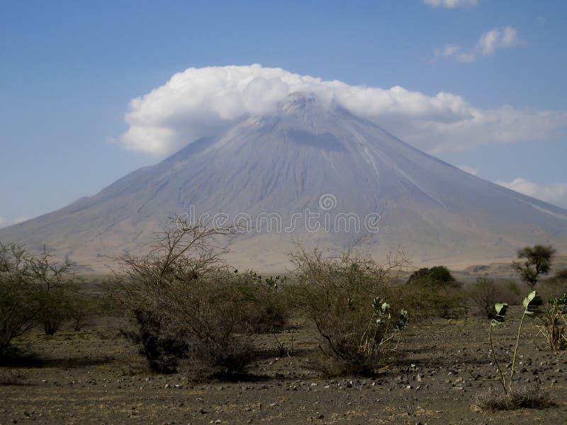 不活泼的火山 库存照片