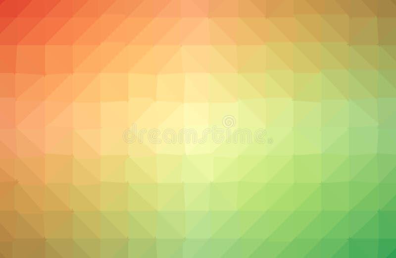 与一个三角样式的传染媒介摘要不规则的多角形背景在充分的多颜色-彩虹光谱 向量例证