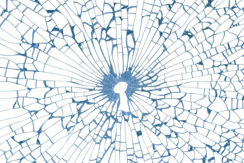 在残破的玻璃的关键孔 图库摄影