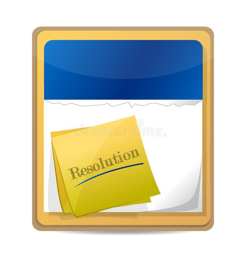 与一个岗位的日历有词决议的。 皇族释放例证