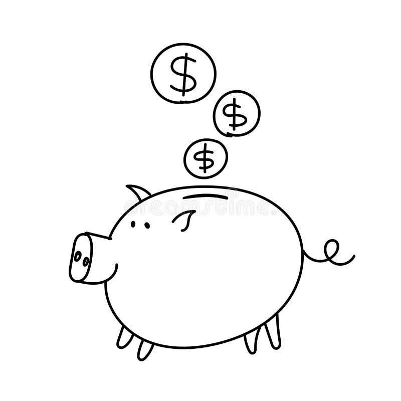 与一个文件的贿款猪在嘴 皇族释放例证