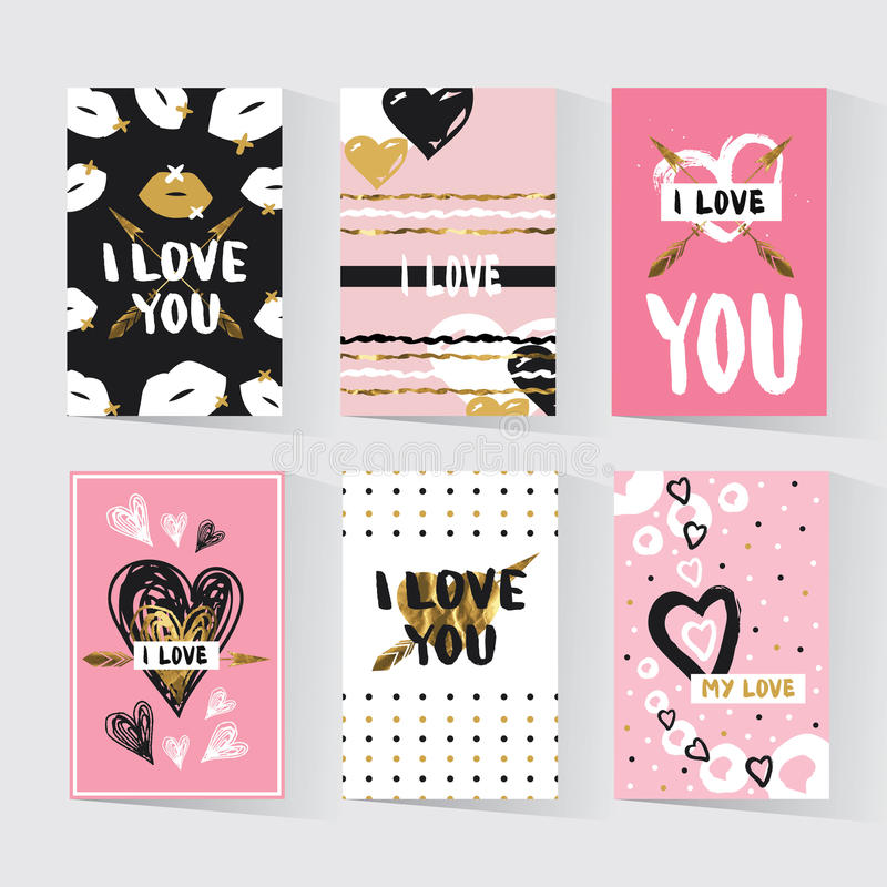 与一个时髦行家印刷品的卡片 库存图片