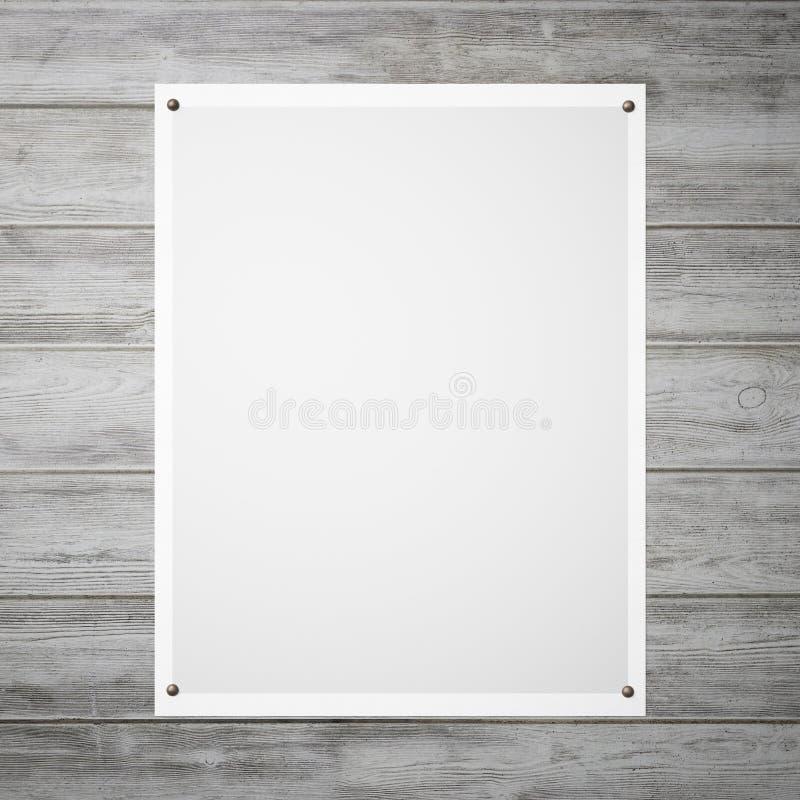 与一个灰色梯度的海报在墙壁上 库存图片