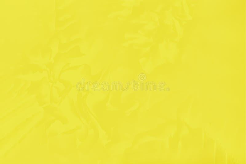 与一个精美花卉样式的美好的明亮的黄色颜色 免版税库存照片