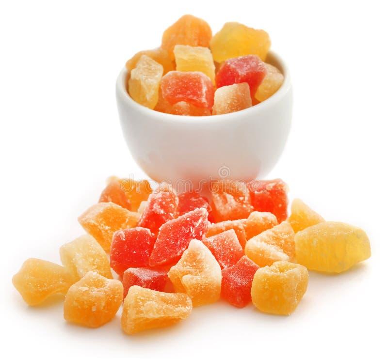 与一些其他的干果子杏子和番木瓜 库存图片