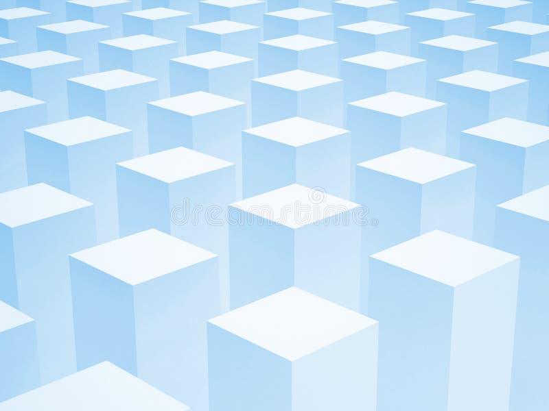 与一些的抽象3d背景箱子 皇族释放例证
