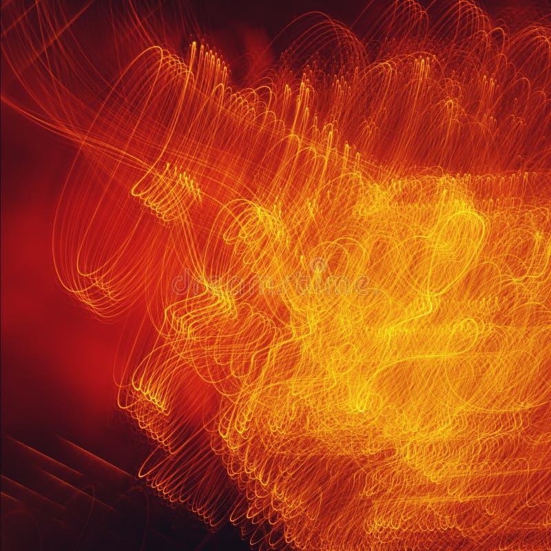 与一刹那光的抽象红色背景 免版税库存图片