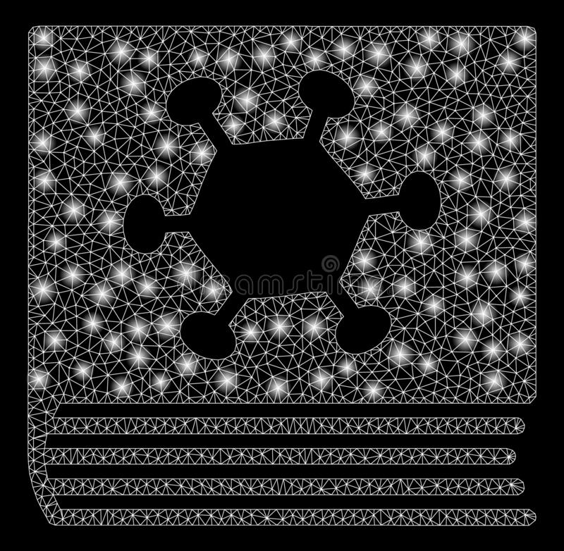 与一刹那斑点的发光的滤网尸体寄生生物百科全书 向量例证