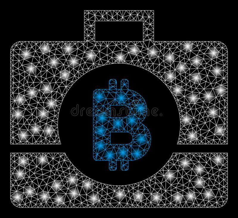 与一刹那斑点的明亮的滤网尸体Bitcoin企业案件 库存例证