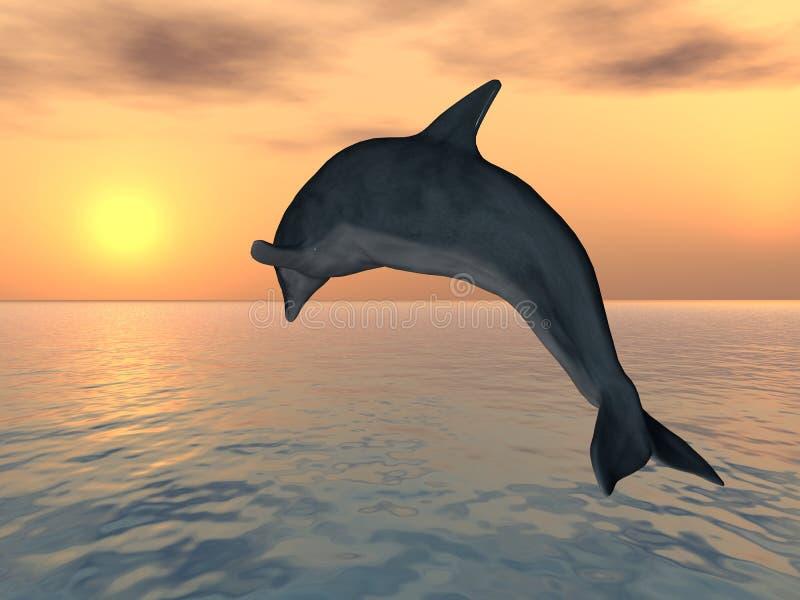 跳跃的海豚 皇族释放例证
