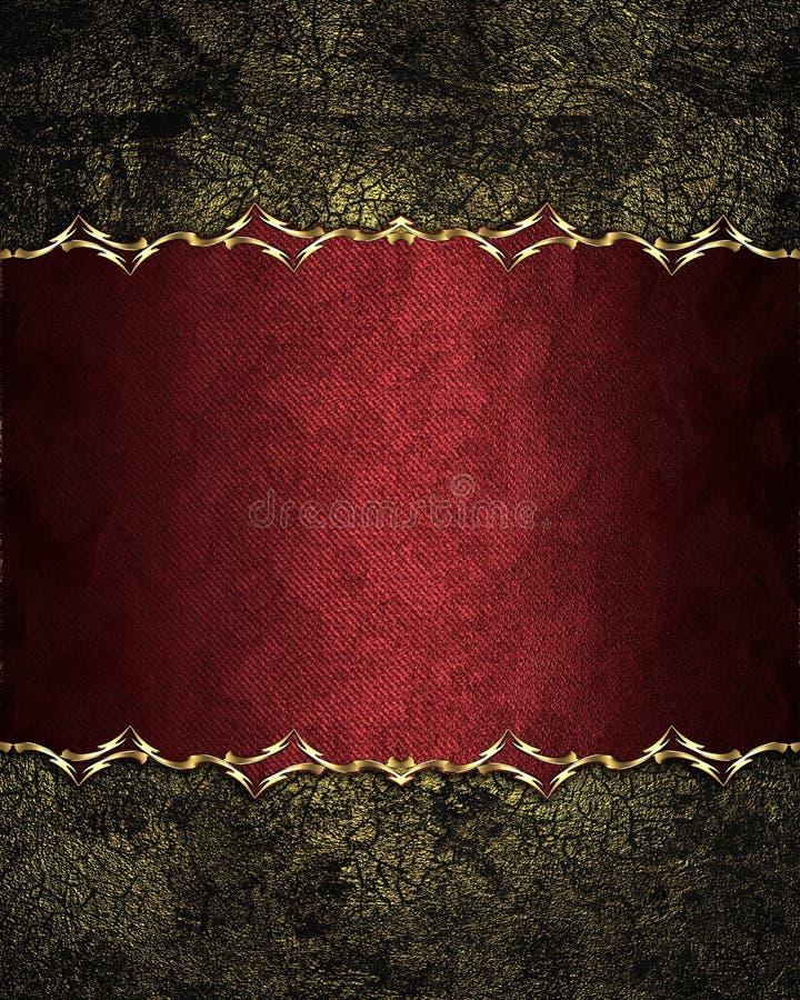 与一块典雅的板材的难看的东西破旧的老红色背景 设计的要素 设计的模板 复制广告小册子或安的空间 库存图片