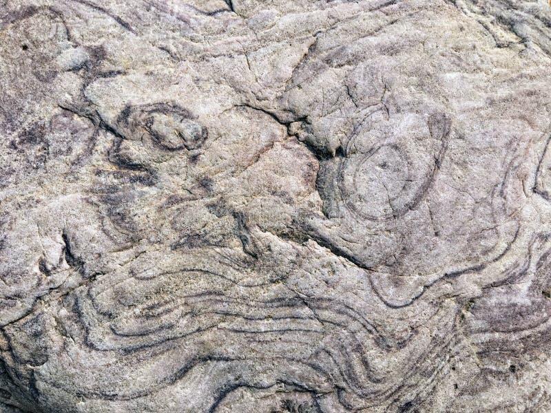 与一好奇面孔做鬼脸的throug的一个有趣的岩石样式 库存照片