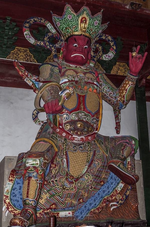 与一座小塔和蛇-全Seei的雕象Vivupaksha 免版税库存图片