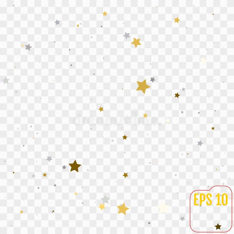 与一点金黄和银色星的假日背景 库存例证