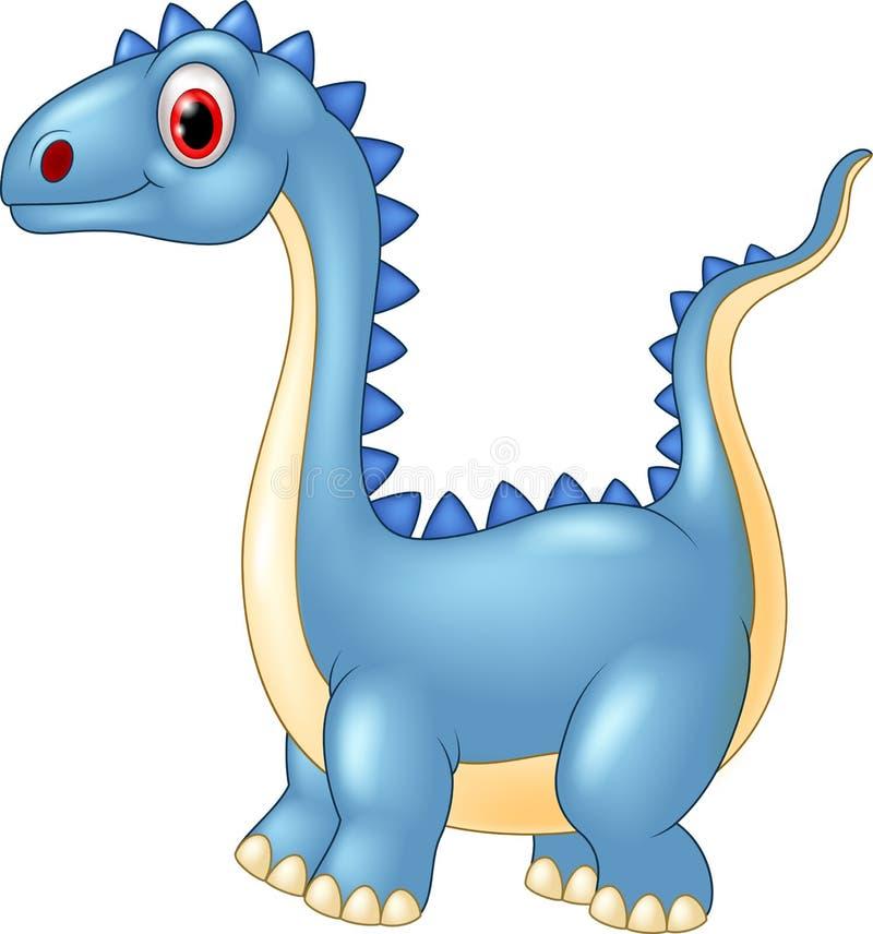 与一长收缩的动画片恐龙 皇族释放例证