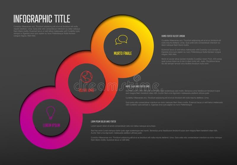 与三个元素的多用途Infographic模板 皇族释放例证