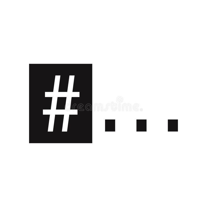 与三个小点的一个hashtag标志 印刷品的,标签,象征,T恤杉印刷品图表,海报简单的题字 皇族释放例证