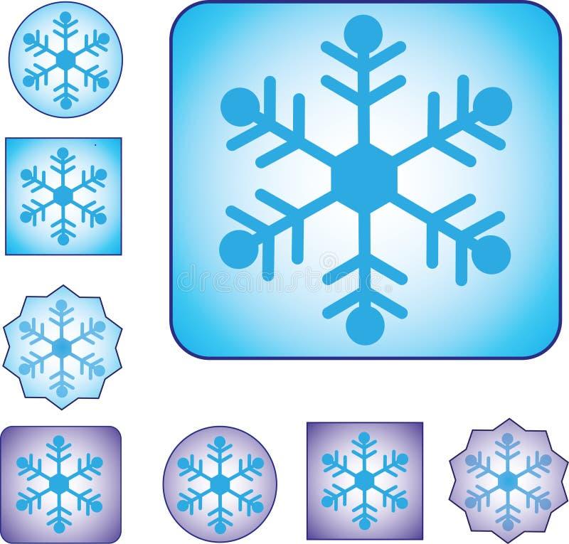 与三个模型和两种颜色的雪标志 免版税库存照片