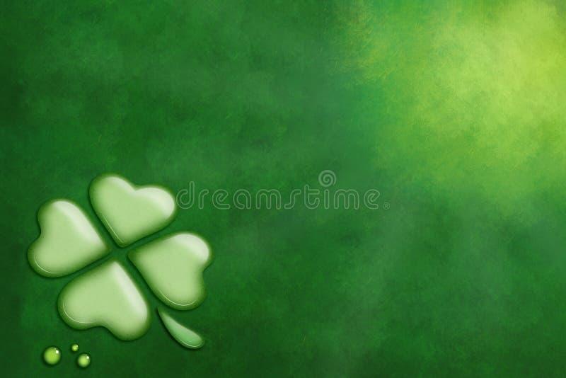 与三叶草的绿色背景,圣帕特里克天 库存照片