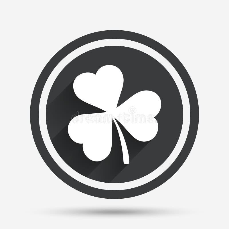 与三片叶子标志的三叶草 stpatrick标志图片