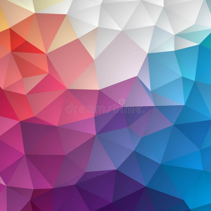 与三角和多角形形状的摘要五颜六色的几何无缝的样式背景 网和应用程序模板的,书理想 向量例证