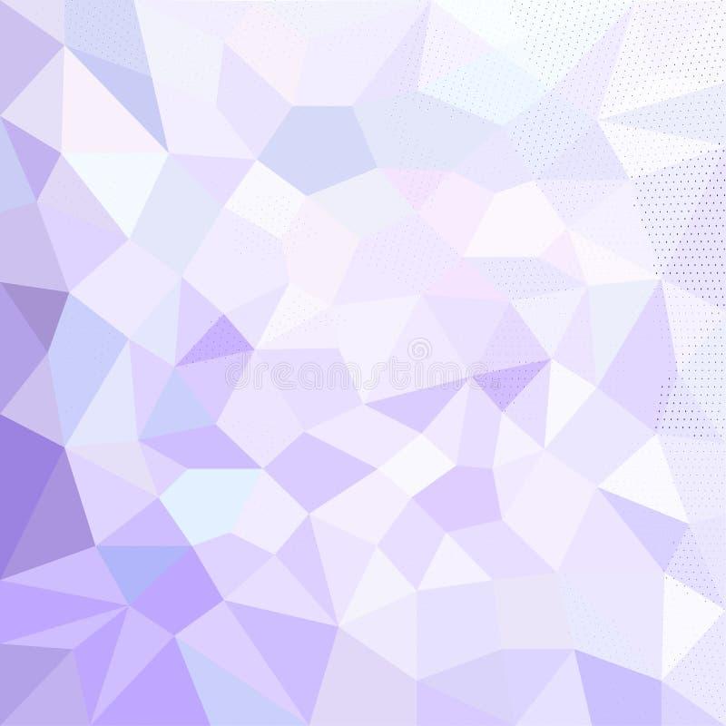 与三角多角形的梯度背景 抽象低多设计 多角形模板 inv的现代传染媒介例证 库存例证