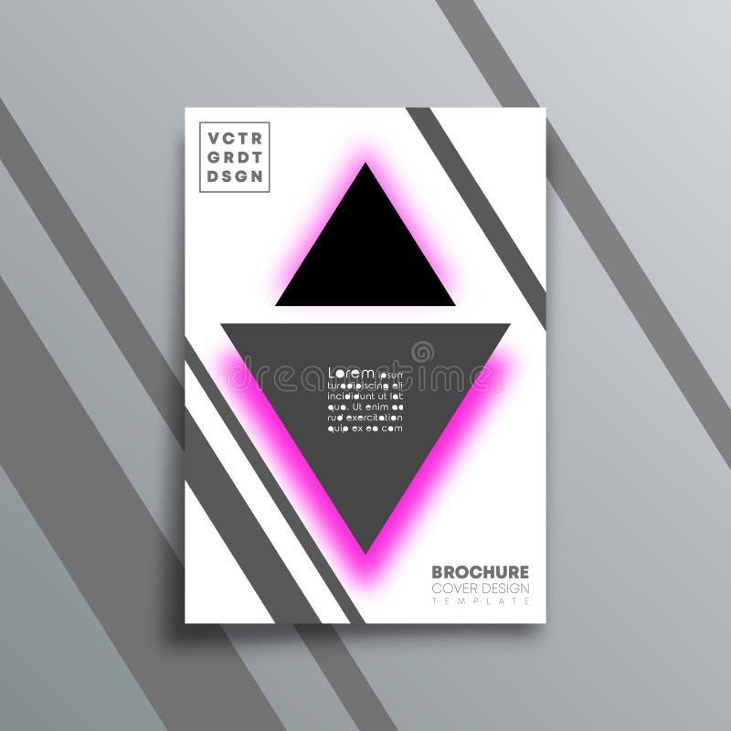 与三角形状的抽象背景为飞行物、海报、小册子盖子、印刷术或者其他打印的产品设计 皇族释放例证