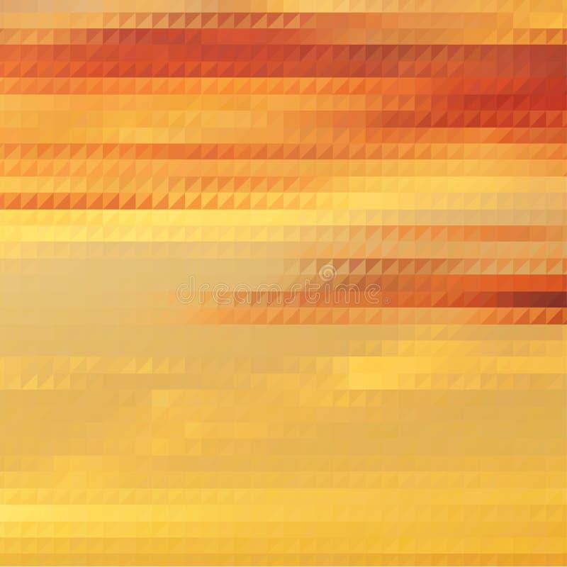 与三角栅格的日落主题的背景 皇族释放例证