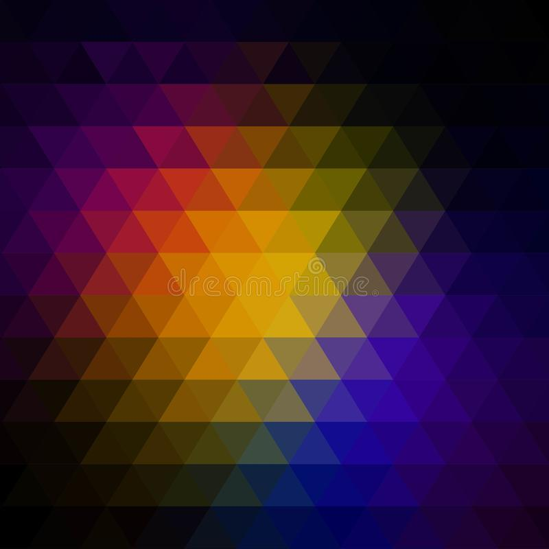 与三角样式的传染媒介摘要不规则的多角形背景 10 eps 库存例证
